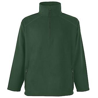 Fruit of the Loom Mens Half zipped Neck Outdoor fleece Jacket