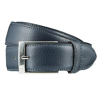 OTTO KERN belts men's belts leather belt Blue/Navy 3620