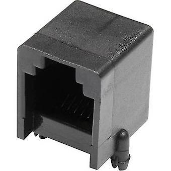 Modulaire gemonteerde socket Socket, horizontale mount aantal pins: 6 MJUSN66GAB zwart econ sluit MJUSN66GAB 1 PC('s)