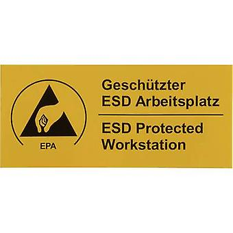 Wolfgang Warmbier ESD warning sign 1 pc(s) Yellow, Black (L x W) 90 mm x 40 mm 2850.4090.DE self-adhesive