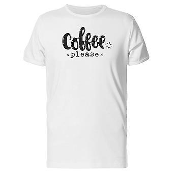 Кофе, пожалуйста фразы искусства Футболка мужская-изображений Shutterstock