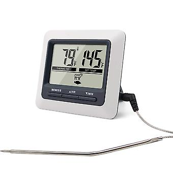 Digital Meat Thermometer Oven Thermometer with Built-in Count Down Timer | Large Display