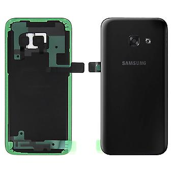 Housing part back cover, for Samsung Galaxy A3 2017 - Black