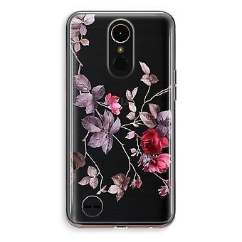 LG K10 (2018) Transparent fodral (Soft) - vackra blommor