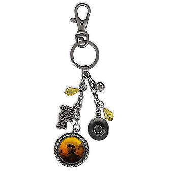 Il Lone Ranger borsa clip Lone Ranger metallo portachiavi in metallo, con vari charms
