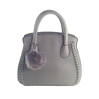 Damer Designer langt håndtag Tote skulder grå håndtaske læder taske SN62
