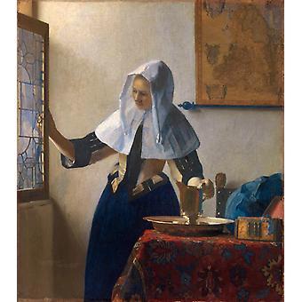 Молодая женщина с кувшином воды wer, Яна Вермеера, 45,7 x 40,6 см