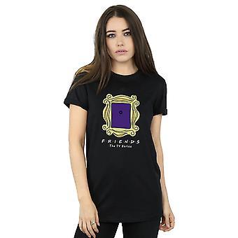 Friends Women's Door Peephole Boyfriend Fit T-Shirt