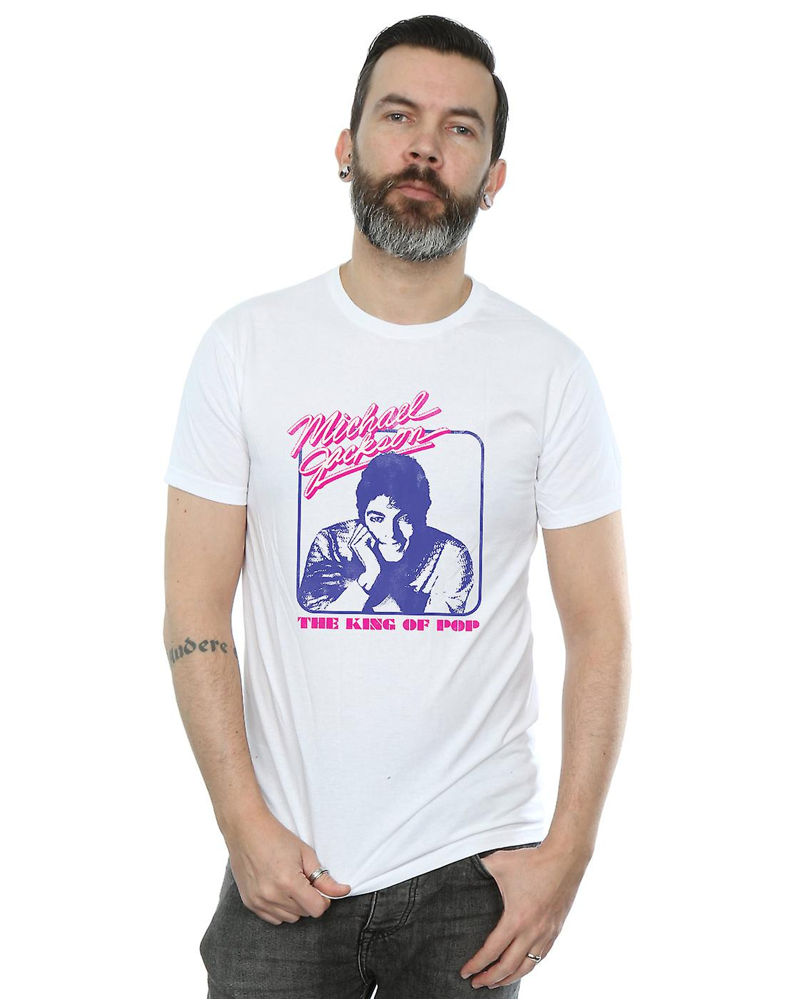 Michael Jackson Men's King Of Pop Portrait T-Shirt