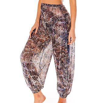 Bali tan through harem pants