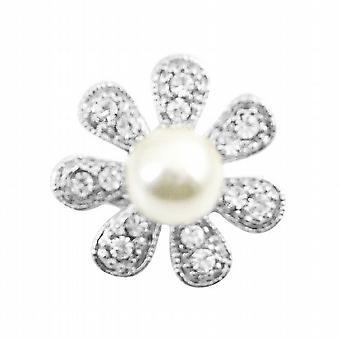 Mousserende fuldt Encrusted Cubic Zircon 7 kronblade blomst broche Pin