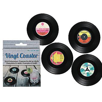 Cool Vinyl Coasters Form of Retro LP Disc 4-Pack B-grade.