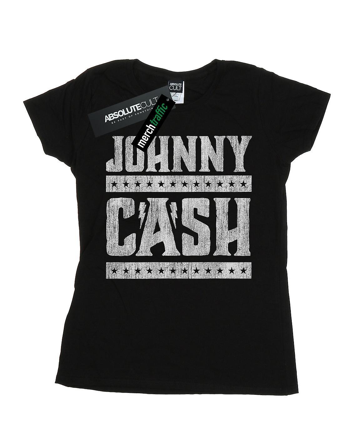 Johnny Cash Women's Stars And Stripes T-Shirt