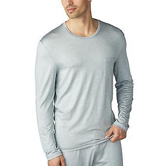 Mey 65640-656 Men's Jefferson Light Grey Melange Long Sleeve Top