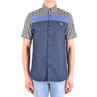 Fred Perry Ezbc094034 Men's Multicolor Cotton Shirt
