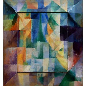 The Window Toward the city,Robert Delaunay,46x40cm