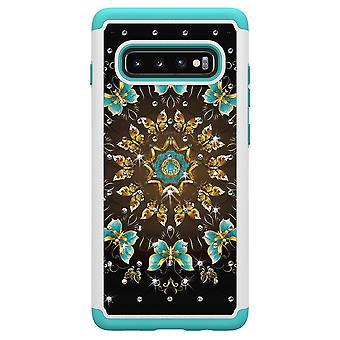 Samsung Galaxy S10+ TPU-Skal Armor Extra Tåligt - Pretty Butterflies