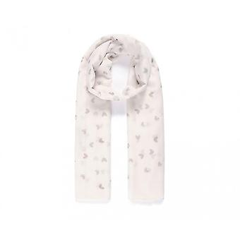 Intrigue Womens/Ladies Small Heart Print Scarf