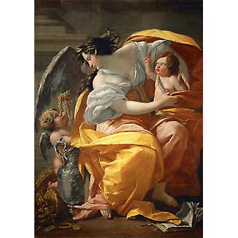 Allegory of Wealth,Simon Vouet,60x42cm