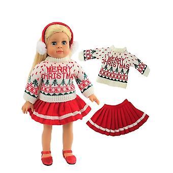 """18 """"docka kläder god jul tröja kjol Set"""