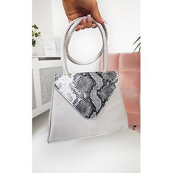 IKRUSH Womens Faith Croc Print Shoulder Handbag