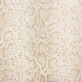 Rasch Beige Glitter Animal Print Serpiente Piel Papel Pintado Texturizado Brillo Metálico