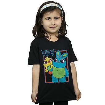 Disney Girls Toy Story 4 ankka ja pupu villi ja Wacky T-paita