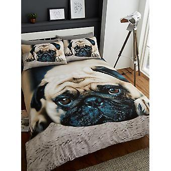 Funda de edredón Sweet Pug y juego de funda de almohada