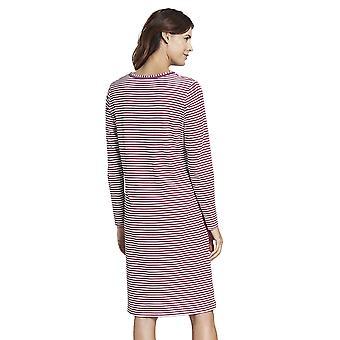 Rosch 1193515-16415 Kobiety's Smart Casual Blush Pink Striped Mix Cotton Nightdress