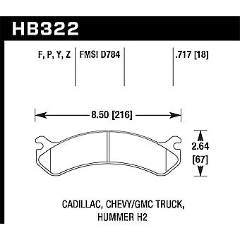 Hawk performance HB322Y. 717 LTS