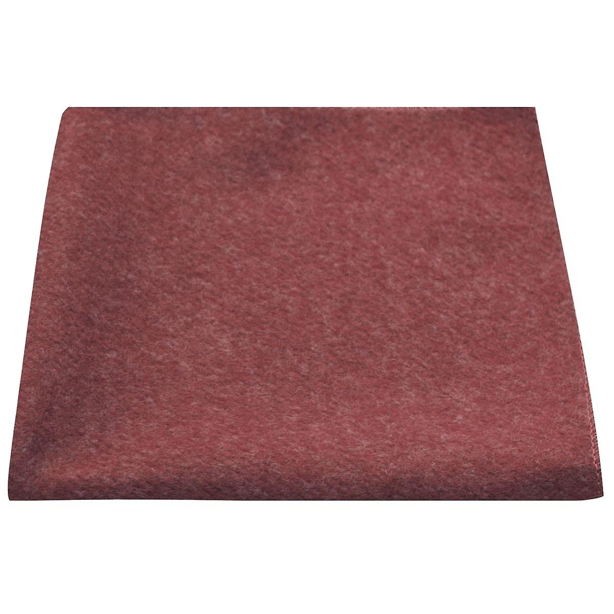 Luxury Maroon Red Donegal Tweed Pocket Square, Handkerchief