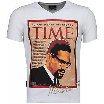 Malcolm X-T-paita-valkoinen