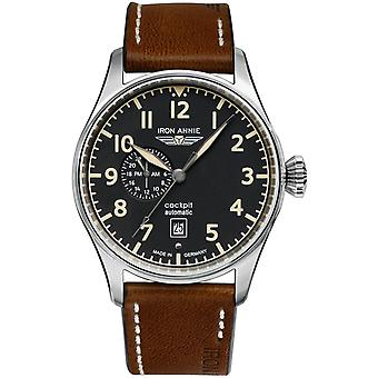 Iron Annie Cockpit Watch for Analog Men Automatic with Cowskin Bracelet 5168-2