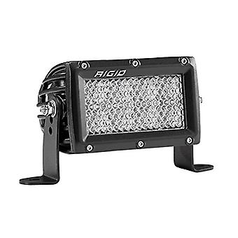 Rigid Industries 104513 E-Series Pro Diffused Light; Surface Mount; 4 in.; Hybrid; 60 Degree; 8 White LEDs; Black Rectan