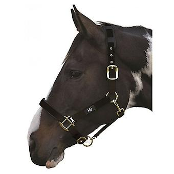 Hy Deluxe Padded Head Collar Black - Cob
