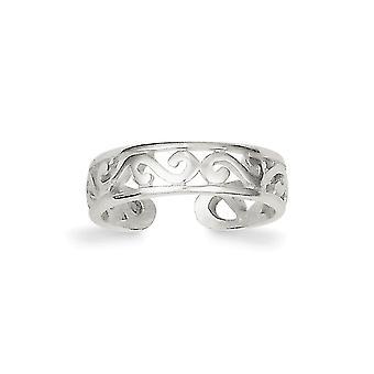 925 sterling zilver Solid gepolijst teen ring