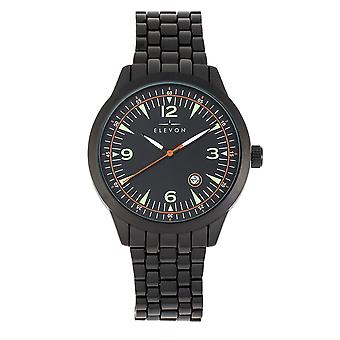 Elevon Atlantic Bracelet Watch w/Date - Black