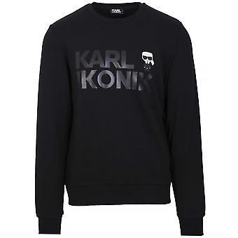 Lagerfeld Black Logo Crew Neck Sweatshirt