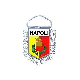 Flagga mini flagga land bil dekoration Souvenir Blason Neapel Napoli Italien