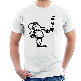 Krazy Kat Ignatz Mouse Smoking Men's T-Shirt