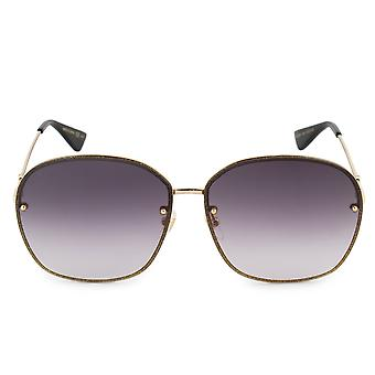 Gucci Oval Sonnenbrille GG0228S 002 63