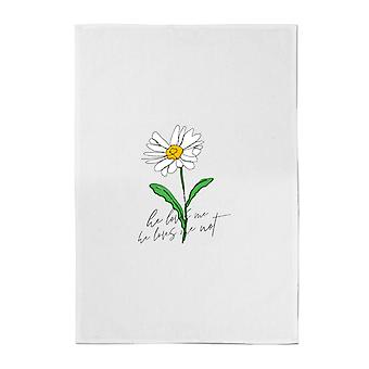 He Loves Me, He Loves Me Not Cotton Tea Towel