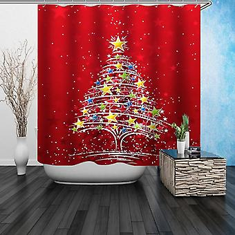 Stars Christmas Tree Shower Curtain