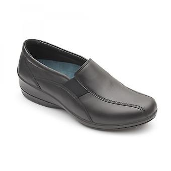 Padders Skye 2 Ladies Leather Wide (e/2e) Shoes Black