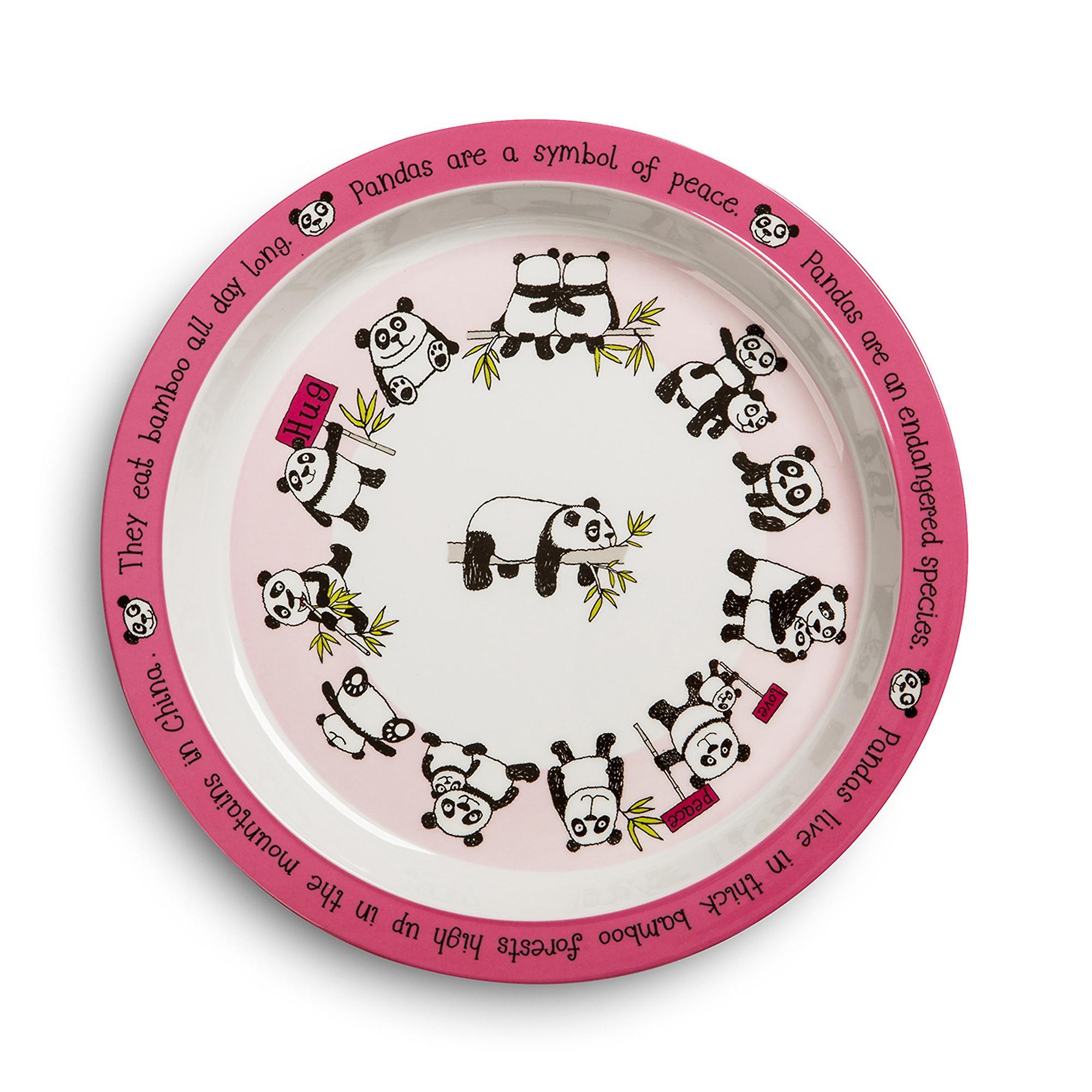 Tyrrell Katz Pandas Design Melamine Plate
