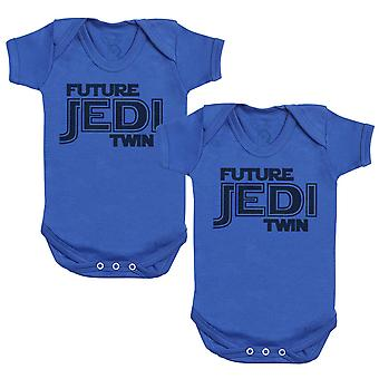 Future Jedi Twins Baby Bodysuit - Baby Gift Twin Set