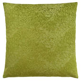 "18"" x 18"" Lime Green, Feathered Velvet - Pillow"