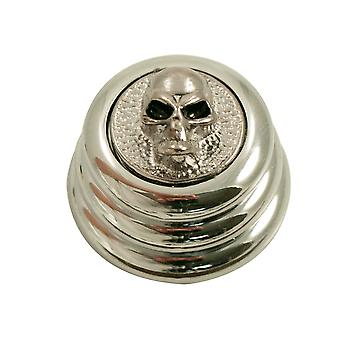 Q Parts Ringo Knob - Angry Skull Cap - Chrome / Chrome Base