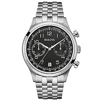 Bulova Quarz Analog Armbanduhr Erbe 96B234, Männlich, Edelstahl, Silber