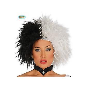 Wigs Women Black White Cruella Wig